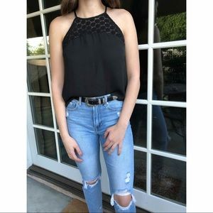 Tops - Black Halter Top